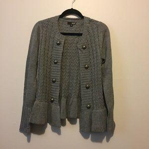 Peplum Sweater Cardigan